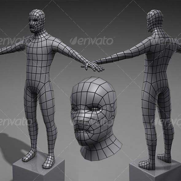Lowpoly Base Mesh Male
