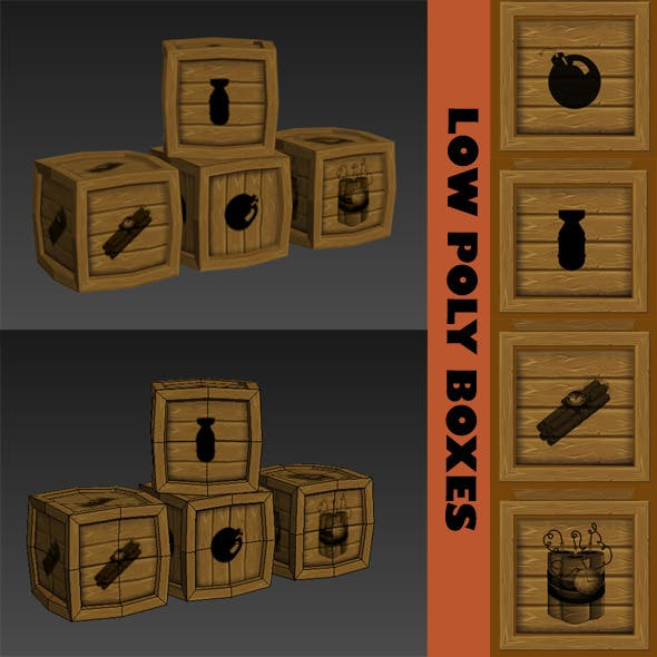 LOW POLY BOXES - 3DOcean Item for Sale