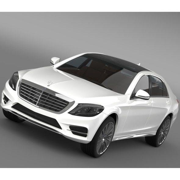 AMG Mercedes Benz S 350 BlueTec W222 2013 - 3DOcean Item for Sale