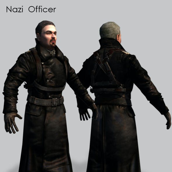 Nazi German Officer 3D Model.