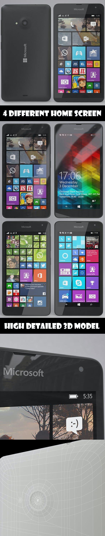 Microsoft Lumia 535 Gray - 3DOcean Item for Sale