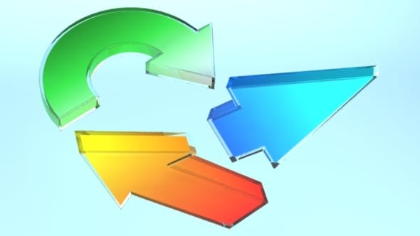 Set of 22 Glassy Arrows - 3DOcean Item for Sale