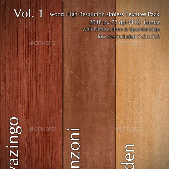 Wood CG Textures High Resulution seamless 3 in 1