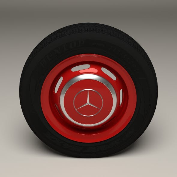 Mercedes 300SL Wheel	 - 3DOcean Item for Sale