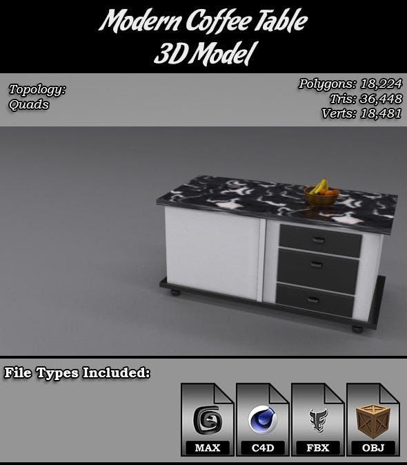 Modern Coffee Table 3D Model - 3DOcean Item for Sale