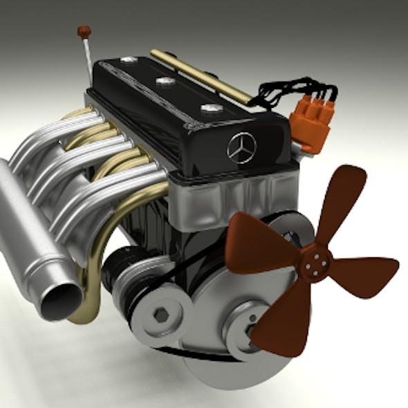 Mercedes 300SL Engine