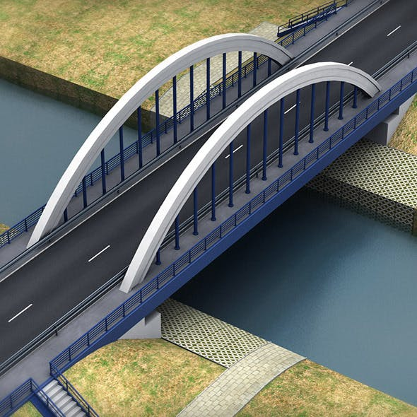 Arch Bridge small - 3DOcean Item for Sale