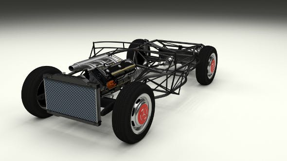 Full Mercedes 300SL chassis - 3DOcean Item for Sale