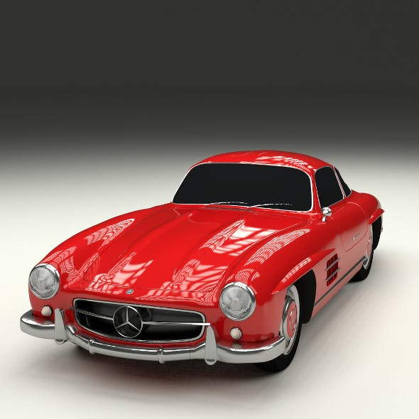 Rigged Mercedes 300SL W198