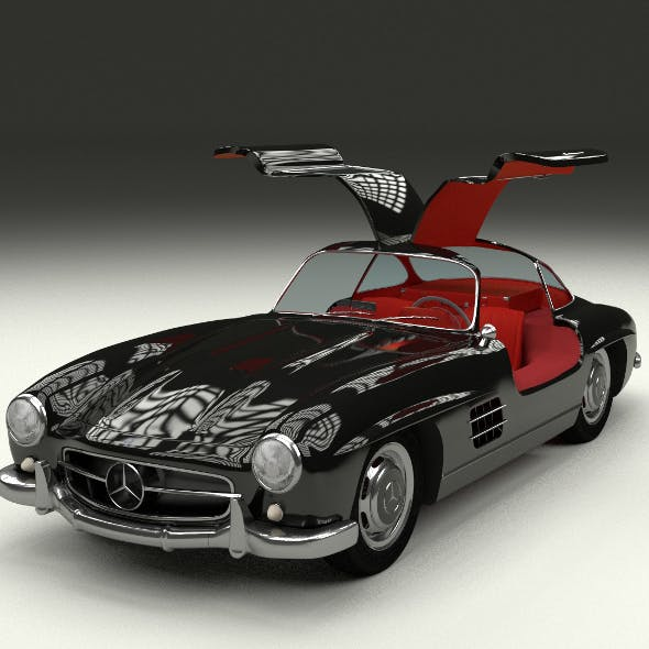 Rigged Mercedes 300SL Gullwing with Interior