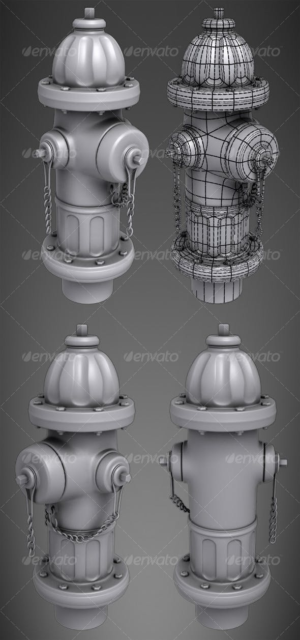 Highpoly Fire Hydrant - 3DOcean Item for Sale