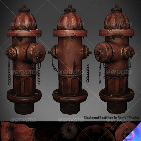 Lowpoly Fire Hydrant