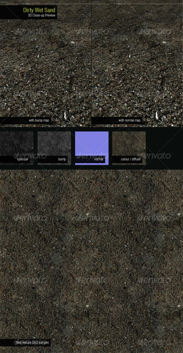 Dirty Wet Sand - 3DOcean Item for Sale