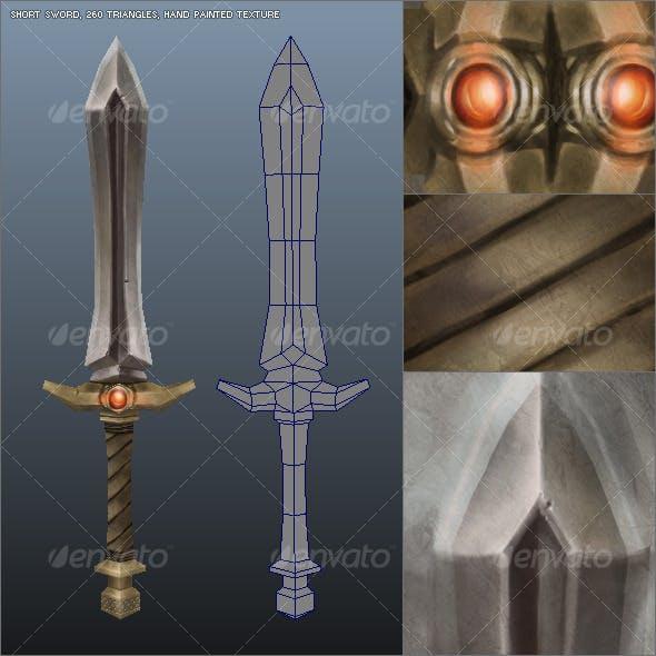 Low Poly Simple Short Sword 02 - 3DOcean Item for Sale