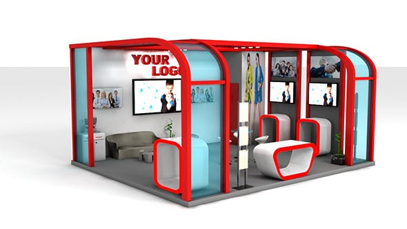 Exhibition Stand - 3DOcean Item for Sale