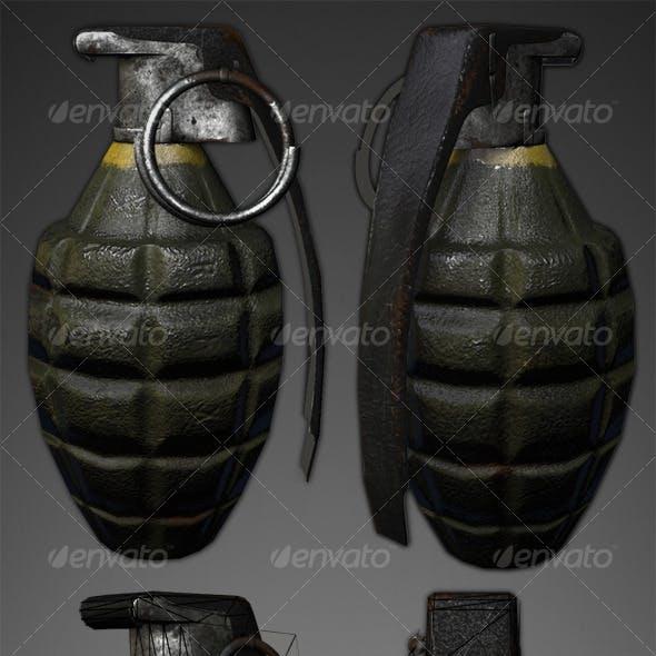Lowpoly Pineapple Grenade