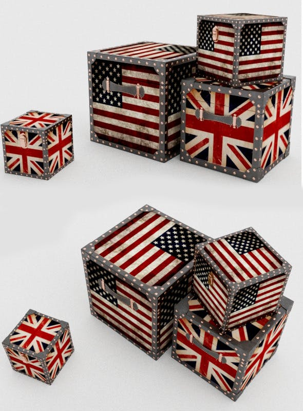 Decorative british box - 3DOcean Item for Sale