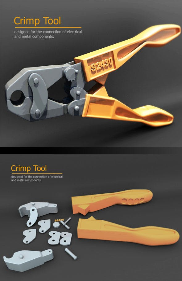 crimp tool - 3DOcean Item for Sale