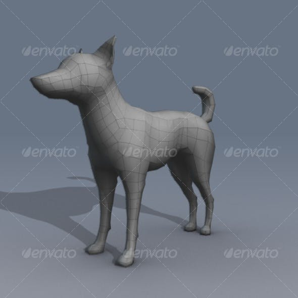 Lowpoly Dog Basemesh - 3DOcean Item for Sale
