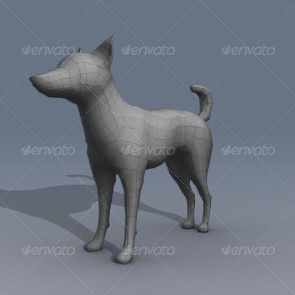 Lowpoly Dog Basemesh