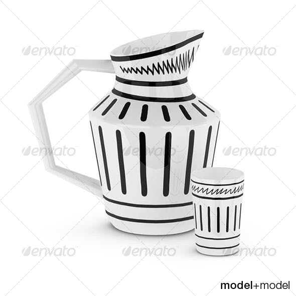 Isi jug and cup