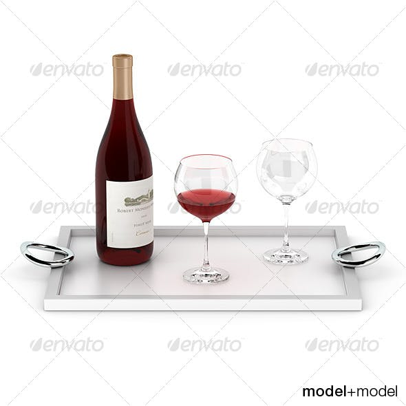Wine set on the Christofle Vertigo tray
