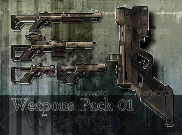 Weapon Pack 01 - 3DOcean Item for Sale
