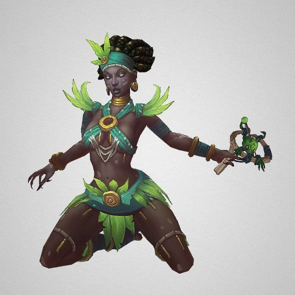 Low Poly Voodoo Priestess