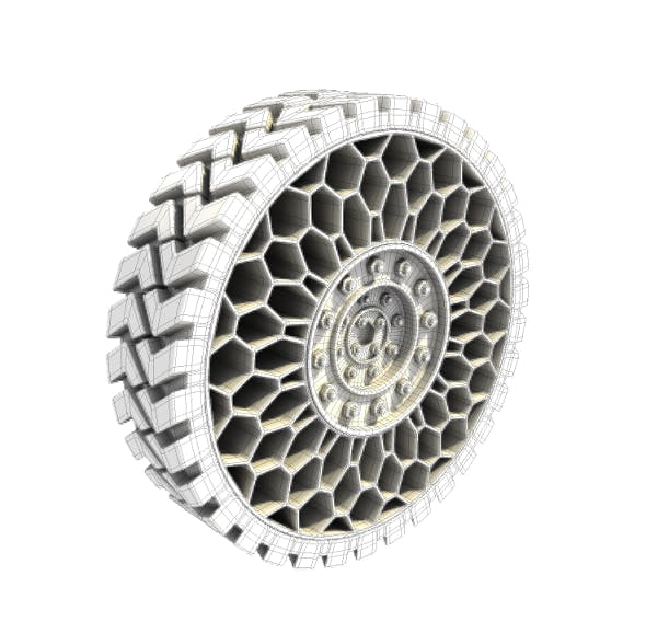 Airless Tire - 3DOcean Item for Sale