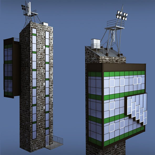 Industrial glass tower - 3DOcean Item for Sale