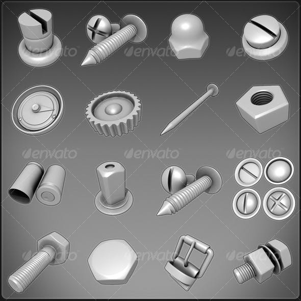 Nuts, Bolts, Screws, Misc.