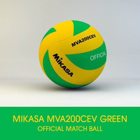 Mikasa MVA200 CEV Official Match ball 3D model