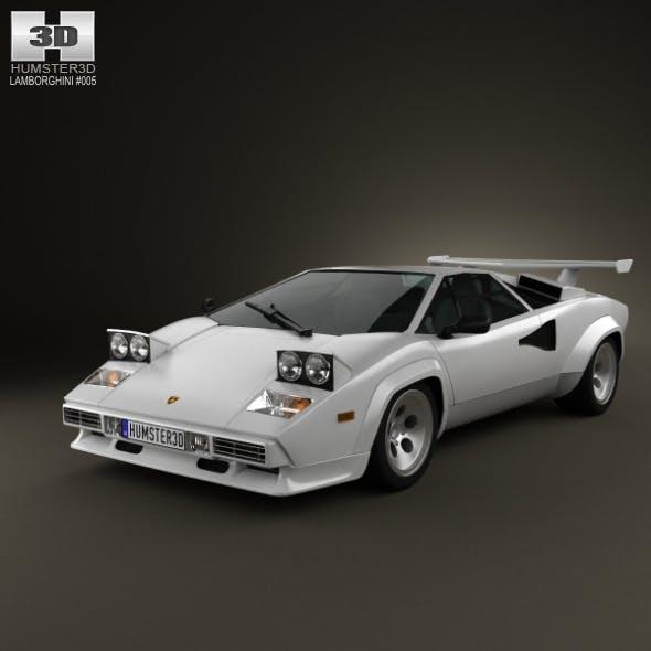 Lamborghini Countach 5000 QV 1985 - 3DOcean Item for Sale