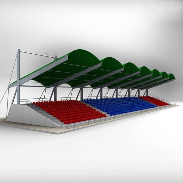 Stadium Seating Tribune Canopy - 3DOcean Item for Sale
