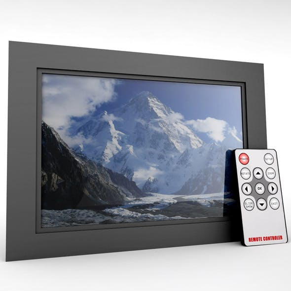 Digital picture frame+remote - 3DOcean Item for Sale