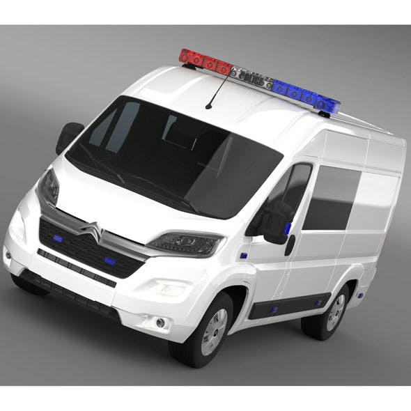 Citroen Relay Police 2015 - 3DOcean Item for Sale