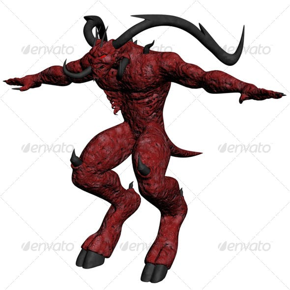 Satan character - 3DOcean Item for Sale