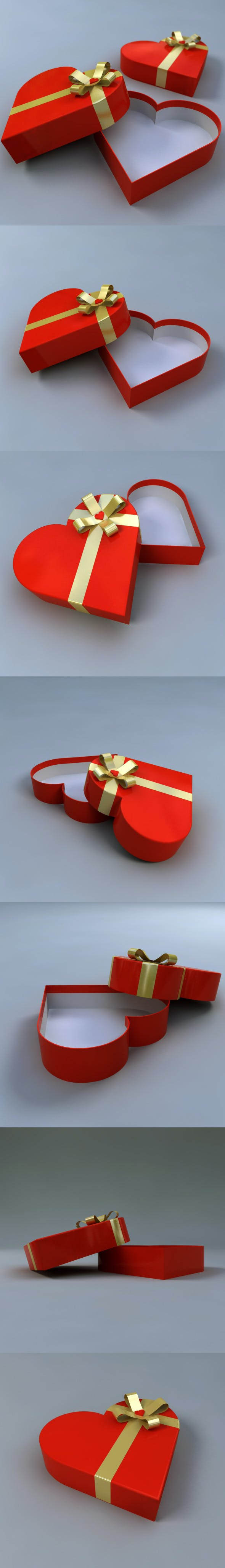 Heart Shaped Gift Box - 3DOcean Item for Sale
