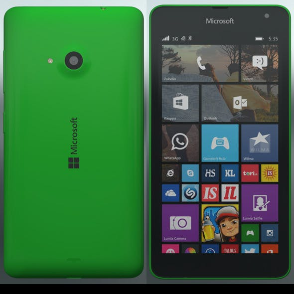 Element 3D - Microsoft Lumia 535 Green