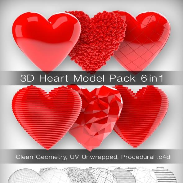 3D Heart Model Pack