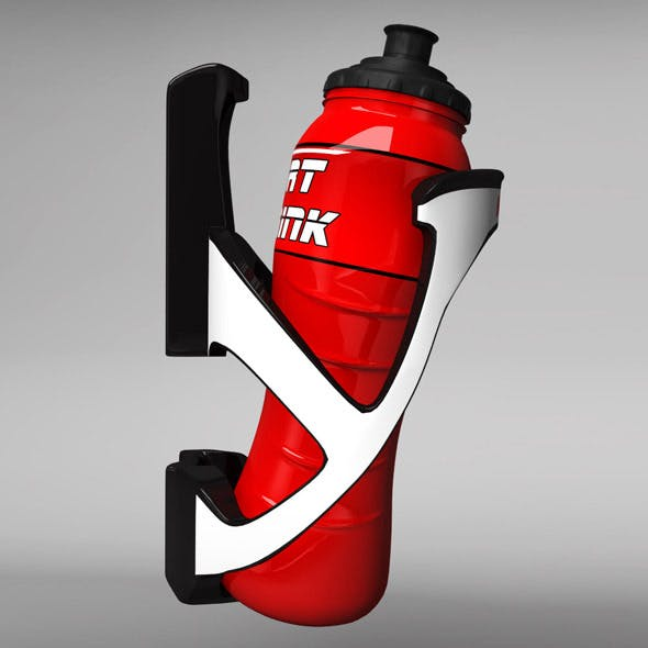 Sport bottle with cage