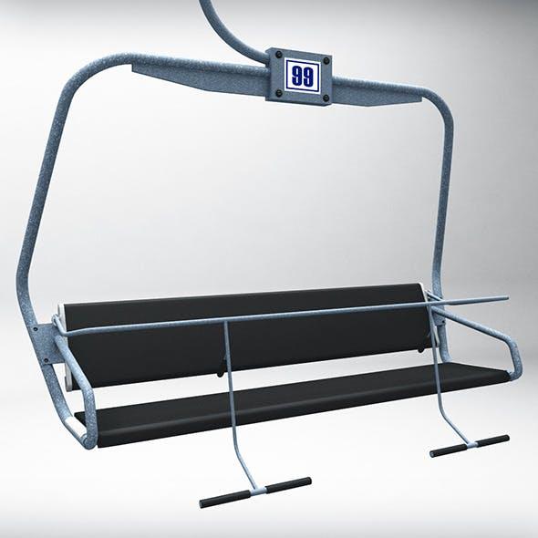 Ski lift chair - 3DOcean Item for Sale