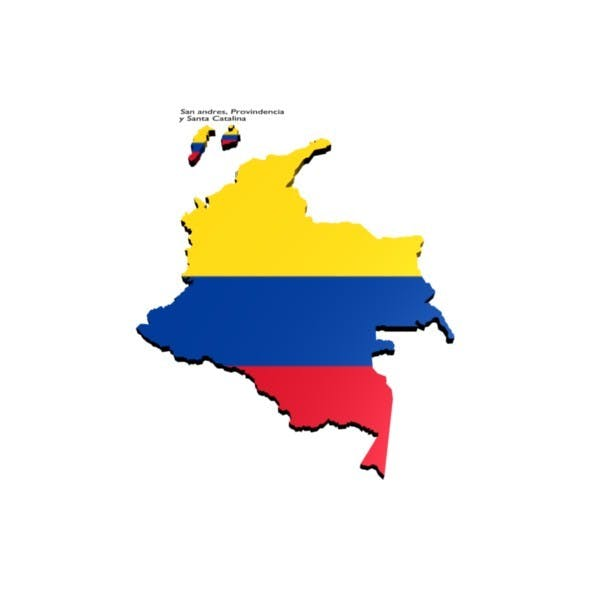 colombia map - 3DOcean Item for Sale