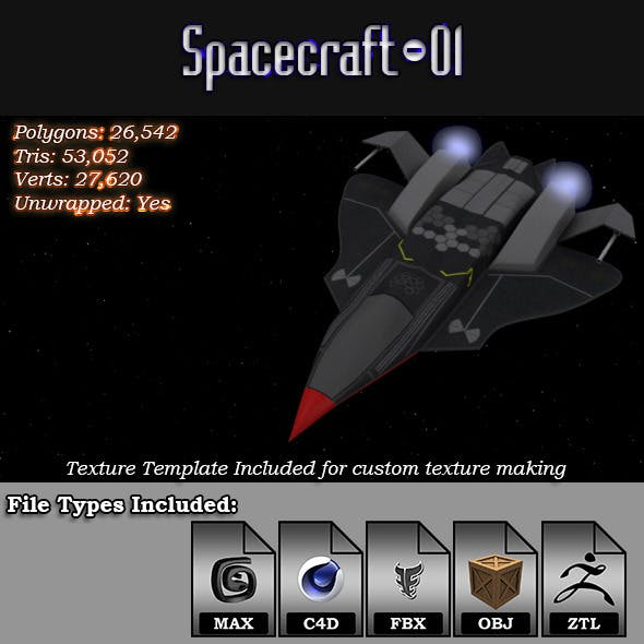 Spacecraft - 01 3D Model