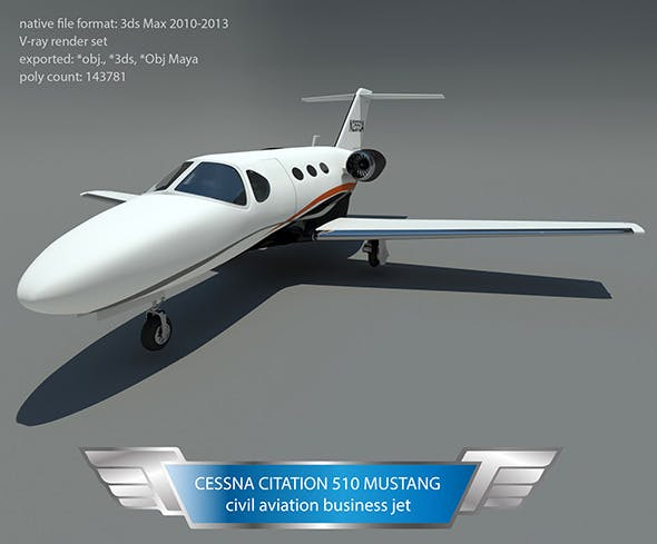Cessna citation 510 mustang - 3DOcean Item for Sale