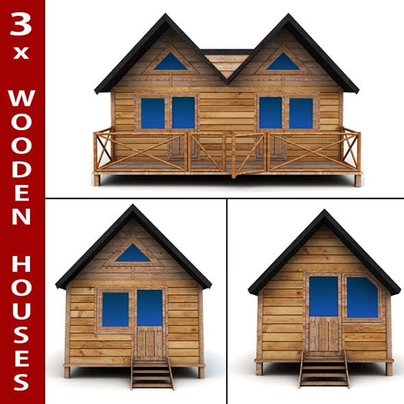 Wooden Houses Pack