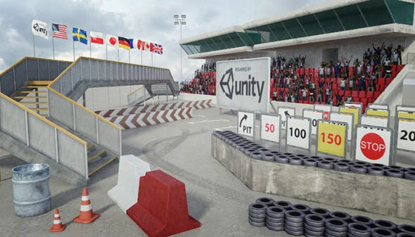 Race Track Construction Kit: Add-on Pack A - 3DOcean Item for Sale