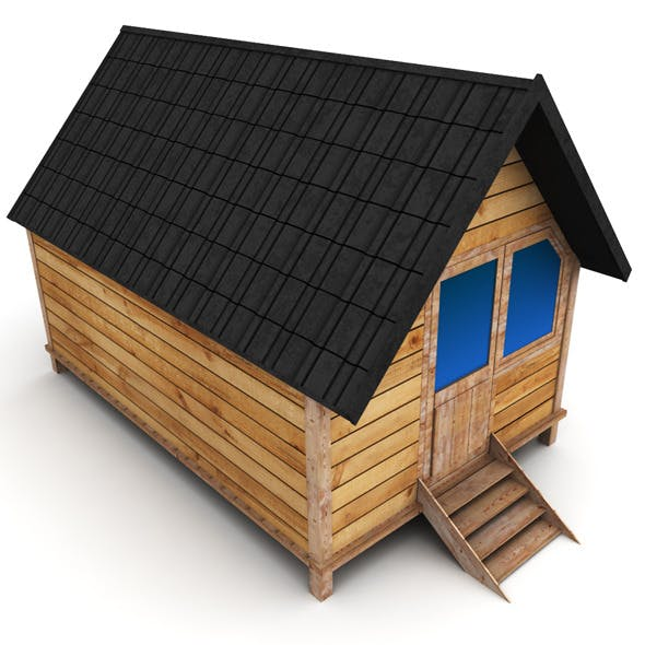 Wooden House Small - 3DOcean Item for Sale
