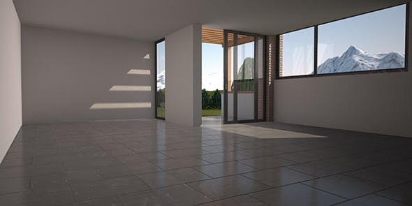 ROOM C4D Vray with environment, lights, materials - 3DOcean Item for Sale