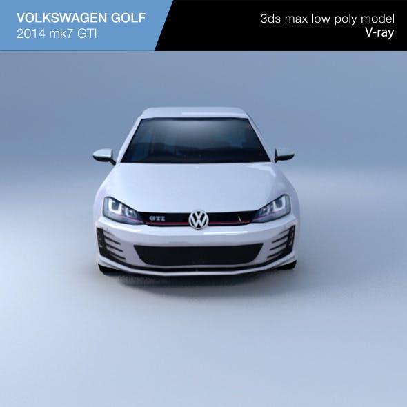 VW GOLF hatchback 2014 - 3DOcean Item for Sale